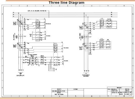 electrical design & electrical engineering services work portfolio  : three line diagram - findchart.co